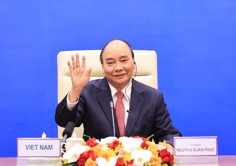 Chủ tịch nước Nguyễn Xuân Phúc tại cuộc họp - Ảnh: TTXVN