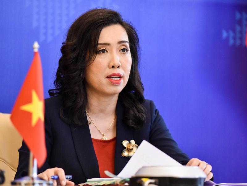 Người phát ngôn Bộ Ngoại giao Việt Nam Lê Thị Thu Hằng - Ảnh: Bộ Ngoại giao