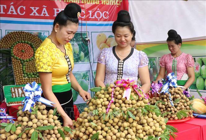 Ban tổ chức dành thời gian để UBND tỉnh Sơn La giới thiệu các sản phẩm nhãn Sông Mã, Sơn La.