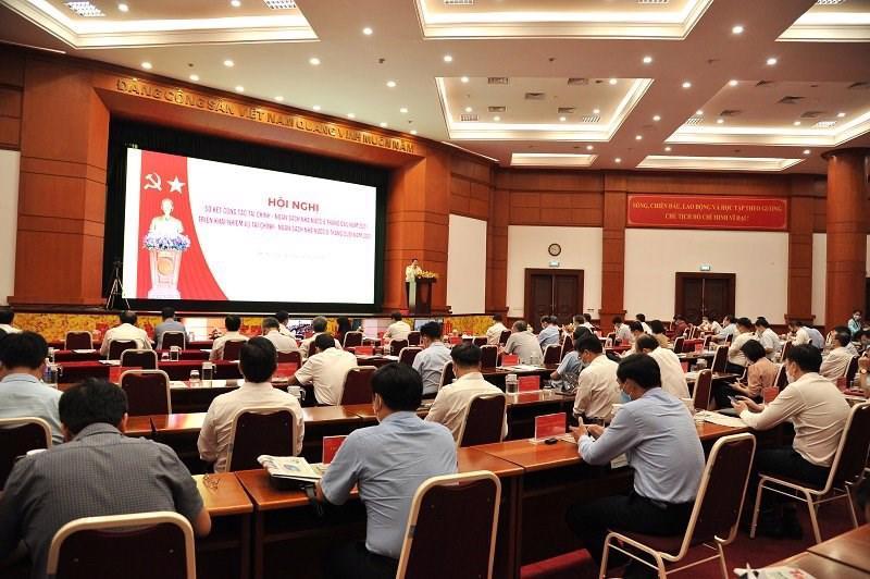 """Hội nghị """"Sơ kết công tác tài chính – ngân sách nhà nước 6 tháng đầu năm, triển khai nhiệm vụ tài chính – NSNN 6 tháng cuối năm 2021 của ngành Tài chính""""."""