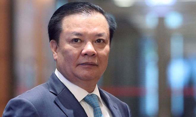 Bí thư Thành ủy Hà Nội Đinh Tiến Dũng.