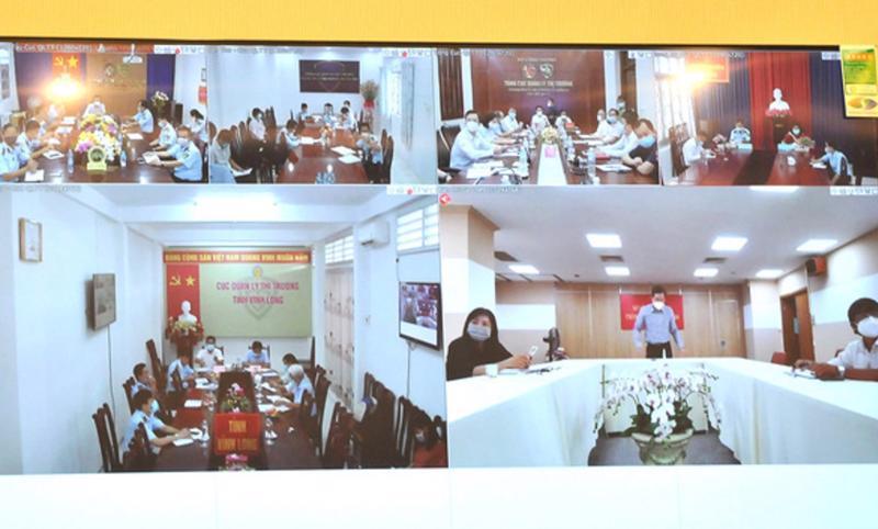 Cuộc họp trực tuyến sáng 18/7 về tình hình cung ứng hàng hóa cho các tỉnh phía Nam.