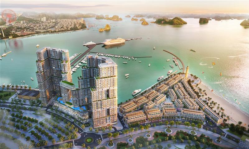 Tổ hợp bất động sản, giải trí Sun Marina bên Vịnh Du thuyền.