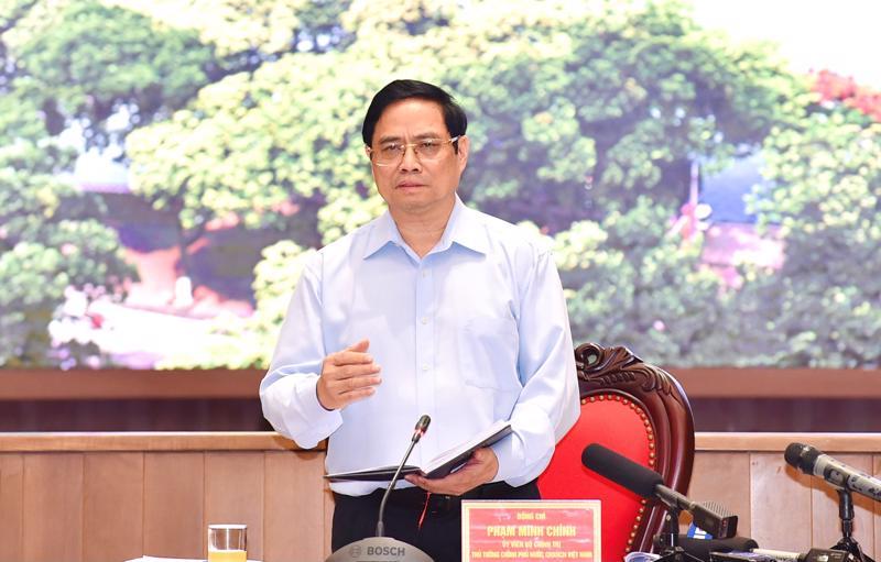 Thủ tướng Phạm Minh Chính tại buổi làm việc với Hà Nội - Ảnh: VGP.