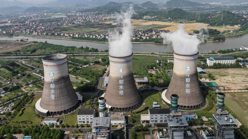Một nhà máy nhiệt điện than ở Hàng Châu, tỉnh Chiết Giang, Trung Quốc - Ảnh: AP