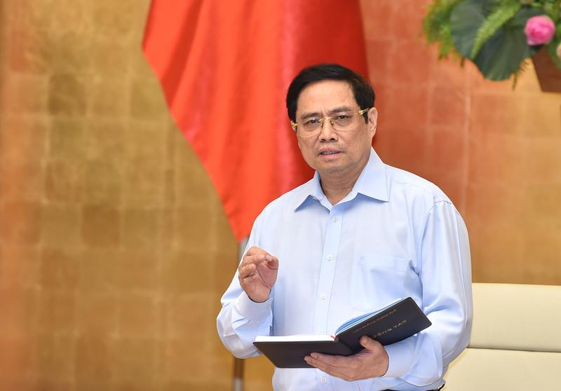 Thủ tướng Phạm Minh Chính tại cuộc họp - Ảnh: VGP