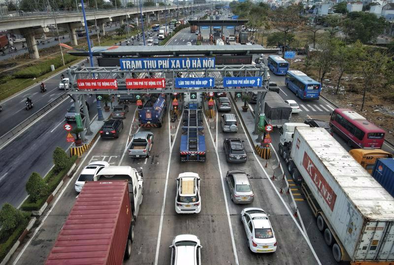 Trạm thu phí Xa lộ Hà Nội mới thu phí từ đầu tháng 4.