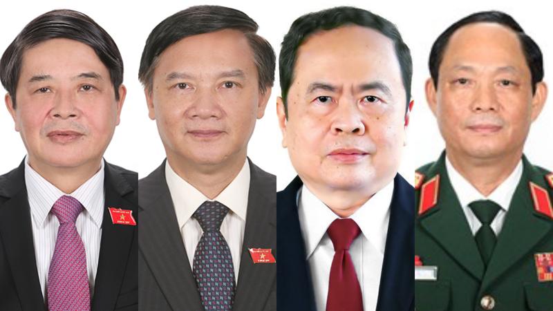Từ trái sang phải: Ông Nguyễn Đức Hải, ông Nguyễn Khắc Định, ông Trần Thanh Mẫn và ông Trần Quang Phương - Ảnh: Quochoi.vn