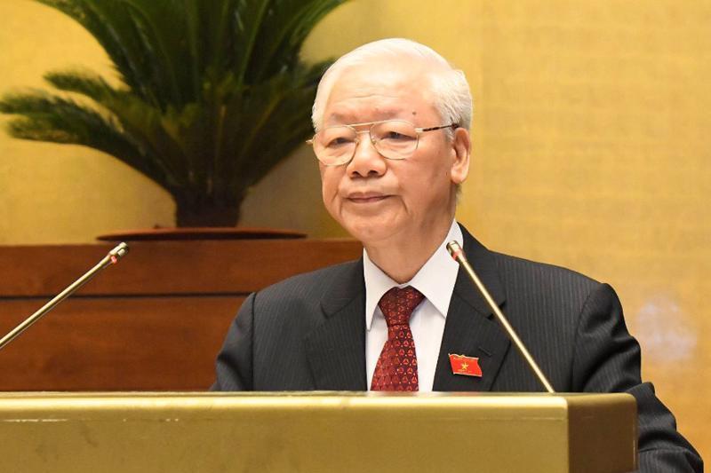 Tổng Bí thư Nguyễn Phú Trọng phát biểu tại phiên khai mạc kỳ họp - Ảnh: VGP