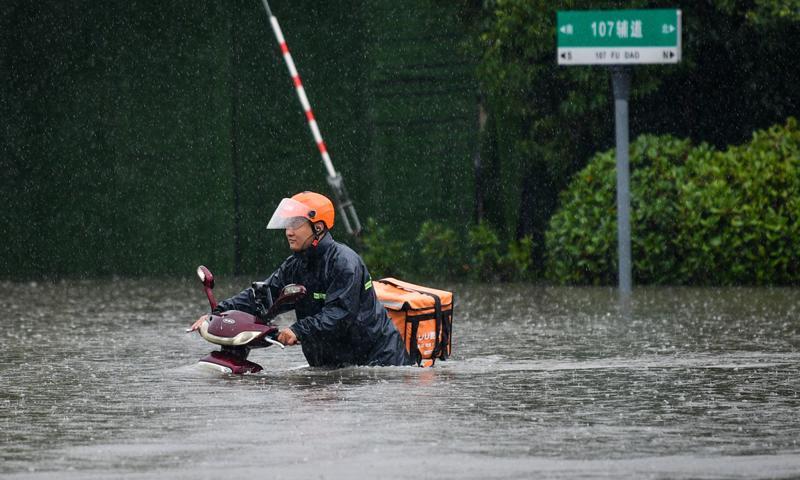 Tỉnh Hà Nam của Trung Quốc đang chìm trong đợt mưa lũ nghiêm trọng - Ảnh: Global Times.