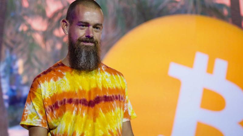 Tỷ phú Jack Dorsey tại Hội nghị Bitcoin 2021 ở Miami, Florida, Mỹ vào tháng 6/2021 - Ảnh: Getty Images