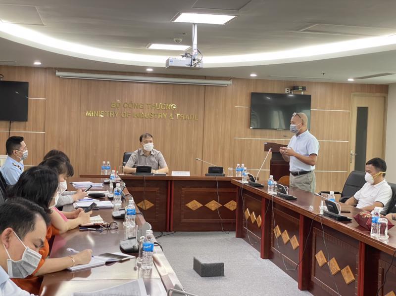 Cuộc làm việc giữa Tổ Công tác đặc biệt Bộ Công Thương và đại diện Bách Hoá Xanh ngày 22/7.