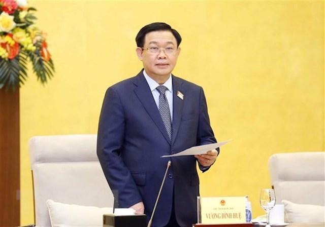 Chủ tịch Quốc hội Vương Đình Huệ - Ảnh: TTXVN