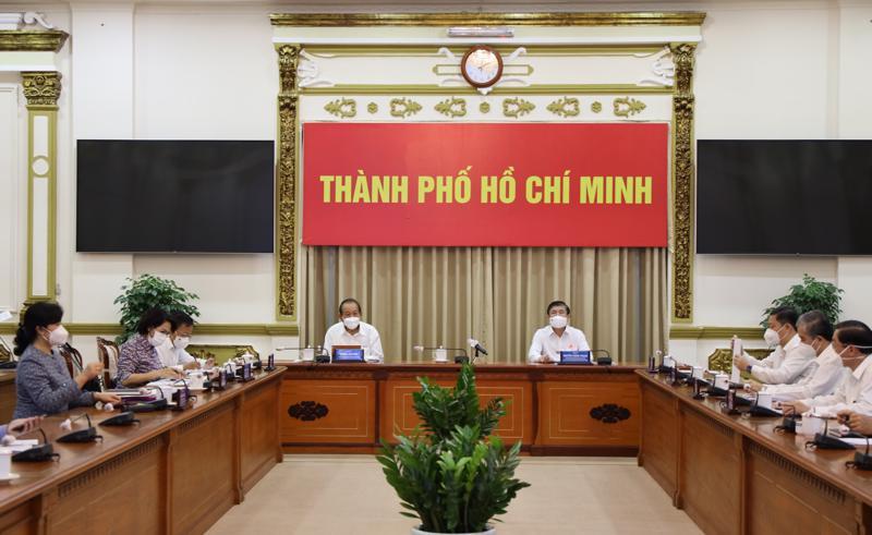 Toàn cảnh hội nghị tại điểm cầu TPHCM