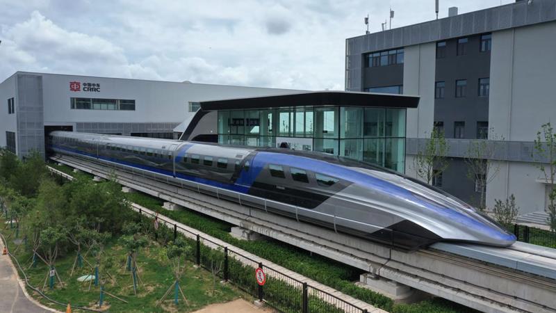 Tàu cao tốc đệm từ mới ra mắt ở Thanh Đảo, Trung Quốc - Ảnh: Getty Images.