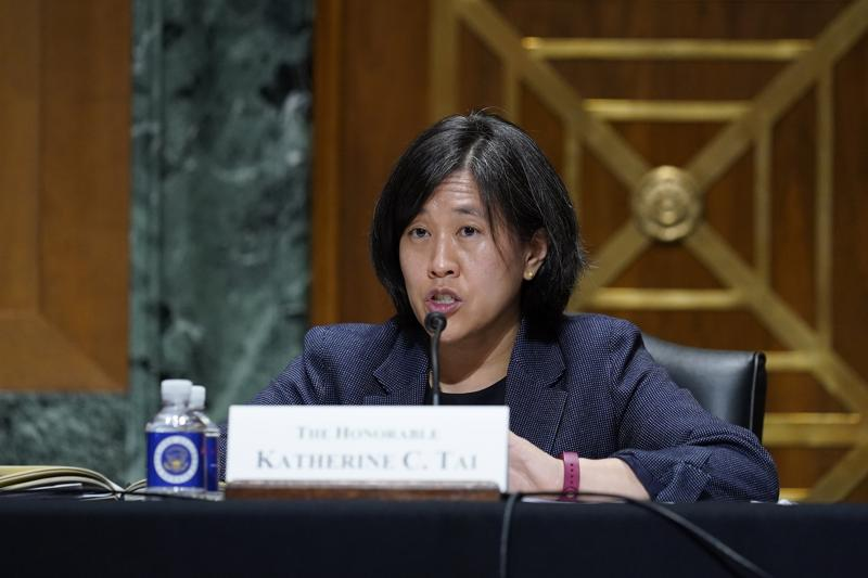 Đại diện Thương mại Mỹ Katherine Tai - Ảnh: AP