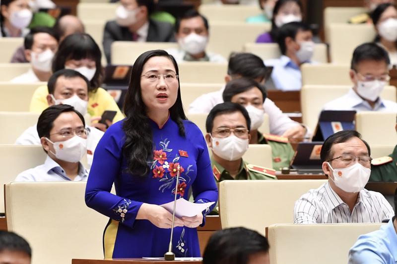 Đại biểu Nguyễn Thị Thủy, đoàn Bắc Kạn - Ảnh: VGP/Nhật Bắc
