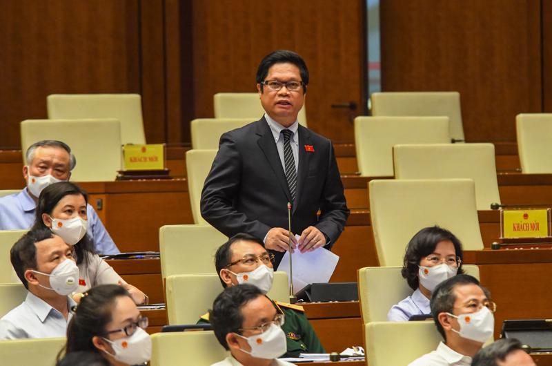 Đại biểu Vũ Tiến Lộc - Đoàn đại biểu Quốc hội thành phố Hà Nội, thảo luận tại phiên họp - Ảnh: Quochoi.vn