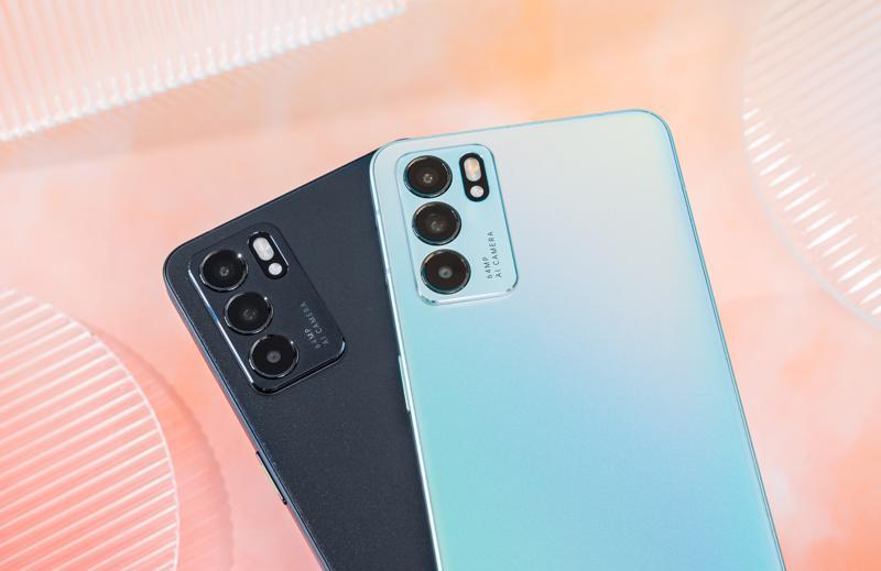 OPPO Reno6 Z trang bị 3 camera sau với camera chính 64 MP, camera góc siêu rộng 8 MP và camera macro 2 MP.