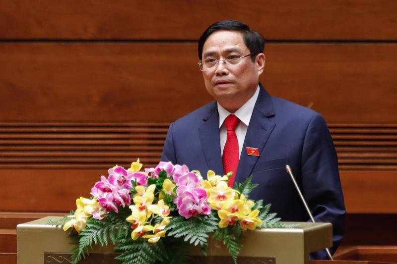 Ông Phạm Minh Chínhđược bầu làm Thủ tướng Chính phủ nhiệm kỳ 2016-2021 vào tháng 4/2021 - Ảnh: VGP/Nhật Bắc