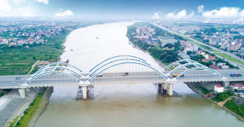 Cầu Đông Trù nối huyện Đông Anh và quận Long Biên. Ảnh minh họa