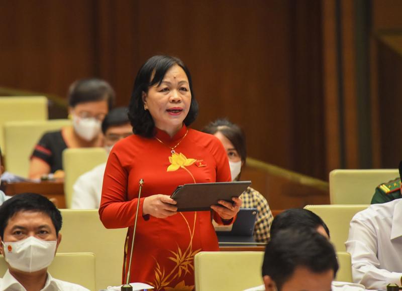 Đại biểu Nguyễn Thị Mai Hoa (đoàn Đồng Tháp) - Ảnh: Quochoi.vn