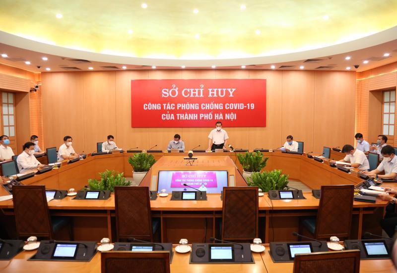 Chủ tịch UBND thành phố Hà Nội Chu Ngọc Anh chủ trì cuộc họp trực tuyến ngày 28/7.