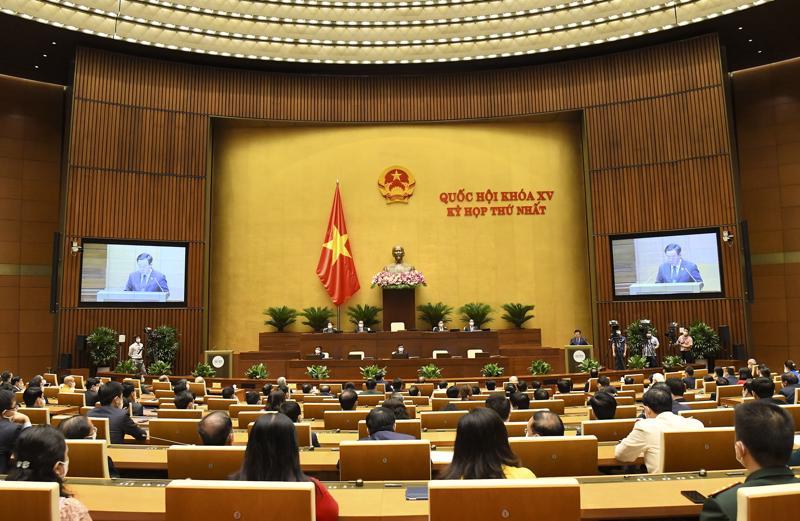 Toàn cảnh phiên bế mạc Kỳ họp thứ nhất, Quốc hội khóa XV - Ảnh: Quochoi.vn