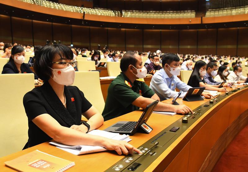 Đại biểu Quốc hội tham gia biểu quyết - Ảnh: Quochoi.vn