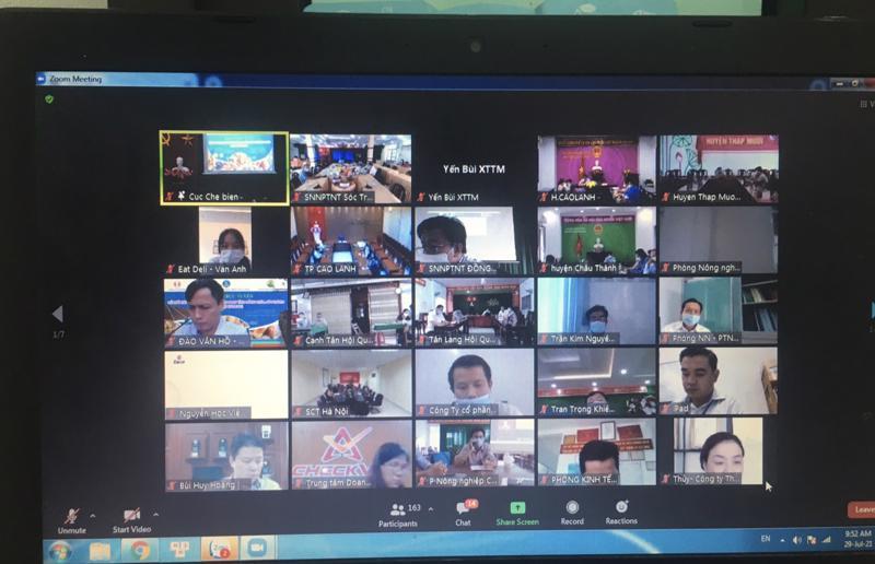 Hội nghị trực tuyến tiêu thụ nhãn cho Sóc Trăng và Đồng Tháp