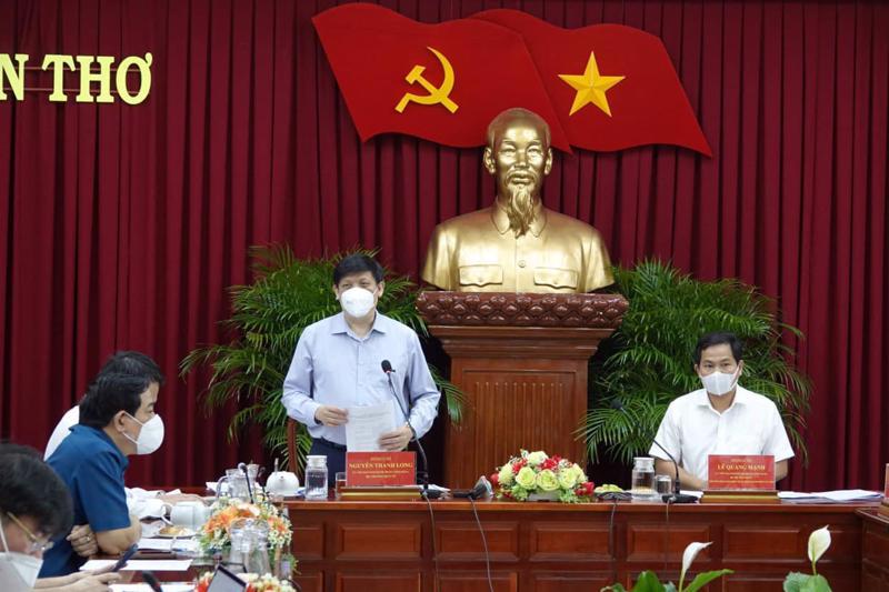 Bộ trưởng Bộ Y tế Nguyễn Thanh Long làm việc với TP.Cần Thơ. Ảnh - Bộ Y tế.