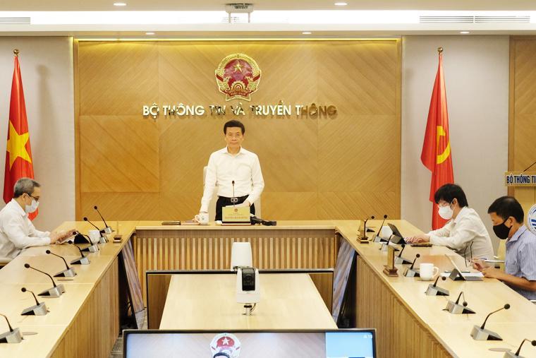 Bộ trưởng Nguyễn Mạnh Hùng phát biểu tại lễ công bố chiều 2/8.