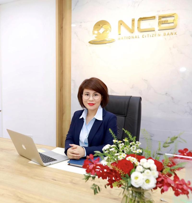 Bà Dương Thị Lệ Hà - Quyền Tổng giám đốc NCB.