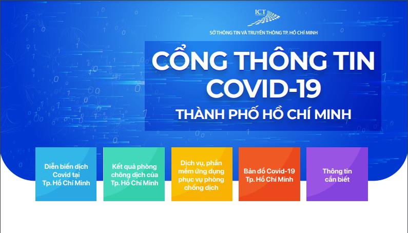 TP.HCM ra mắt cổng thông tin Covid-19 ngày 3/8.