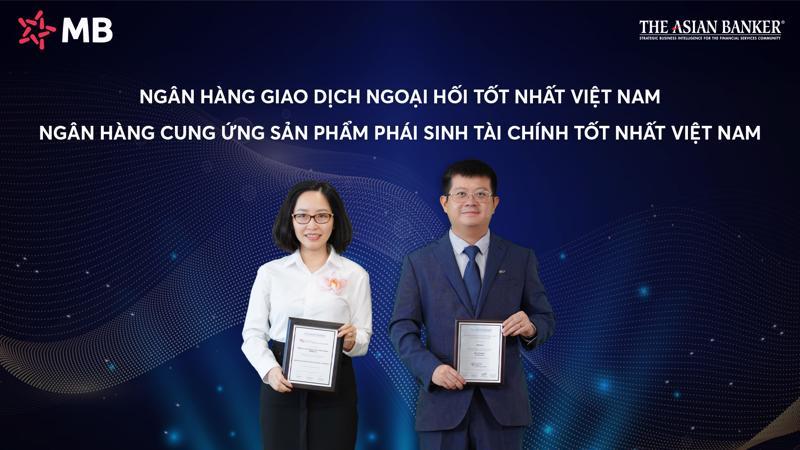 Hai giải thưởng mà The Asian Banker trao tặng trong mảng ngoại hối và phái sinh là sự ghi nhận xứng đáng cho những nỗ lực chuyển đổi của MB trong thời gian qua.