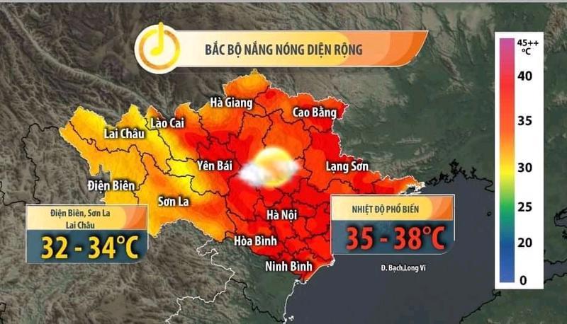 Nắng nóng sẽ kéo dài đến ngày 9/8/2021.