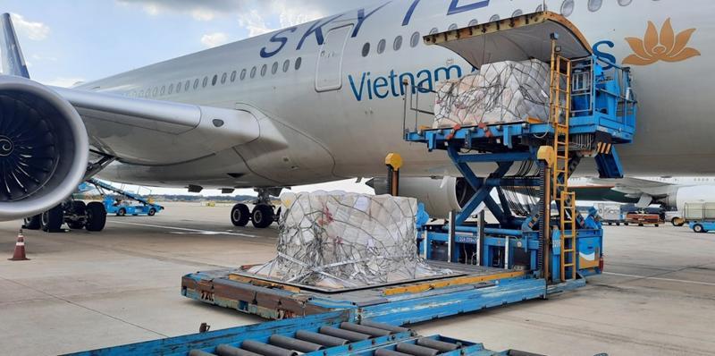 Đây là lô hàng thứ 2 trong số 1 triệu bộ xét nghiệm nhanh do Đức tặng Việt Nam.