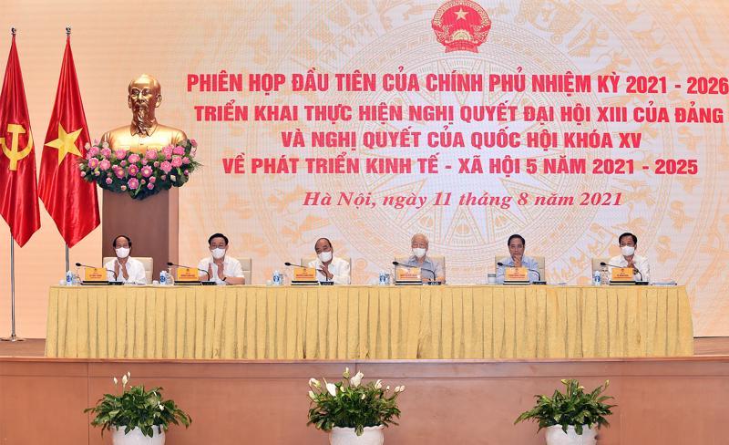 Phiên họp toàn thể đầu tiên của Chính phủ nhiệm kỳ 2021-2026 - Ảnh: VGP