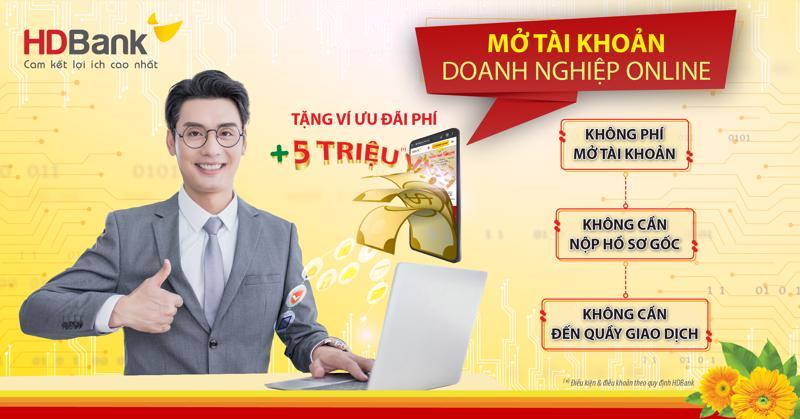 Khách hàng doanh nghiệp không cần phải đến quầy giao dịch để làm thủ tục mà chỉ cần truy cập vào https://online.hdbank.com.vn/motktt/ để thực hiện.