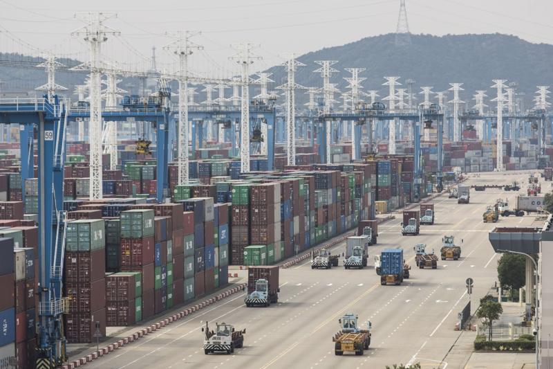 Cảng Ninh Ba-Chu San ở Ninh Ba, Trung Quốc năm 2018 - Ảnh: Bloomberg.