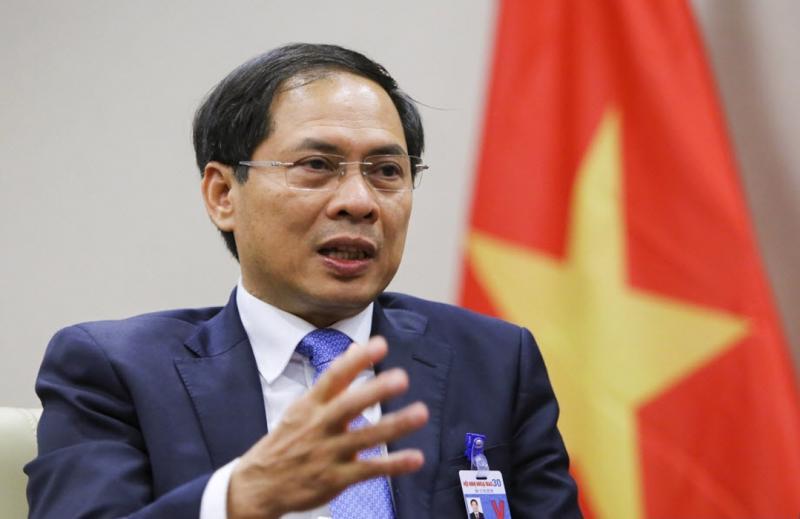 Bộ trưởng Bộ Ngoại giao Bùi Thanh Sơn làm Tổ trưởng Tổ công tác của Chính phủ về ngoại giao vaccine - Ảnh: VGP