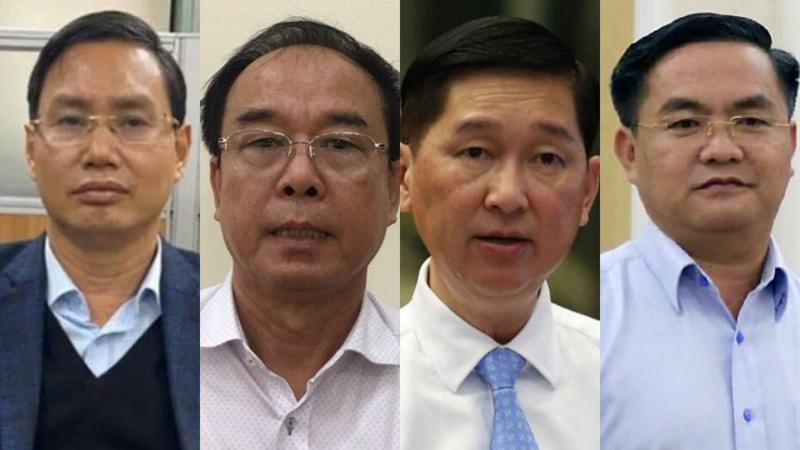 Từ trái sang phải: ông Nguyễn Văn Tứ, Nguyễn Thành Tài, Trần Vĩnh Tuyến, Trần Trọng Tuấn - Ảnh: VOV/VTV