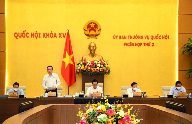 Phiên họp thứ hai của Ủy ban Thường vụ Quốc hội khóa XV chiều 17/8 - Ảnh: Quochoi.vn