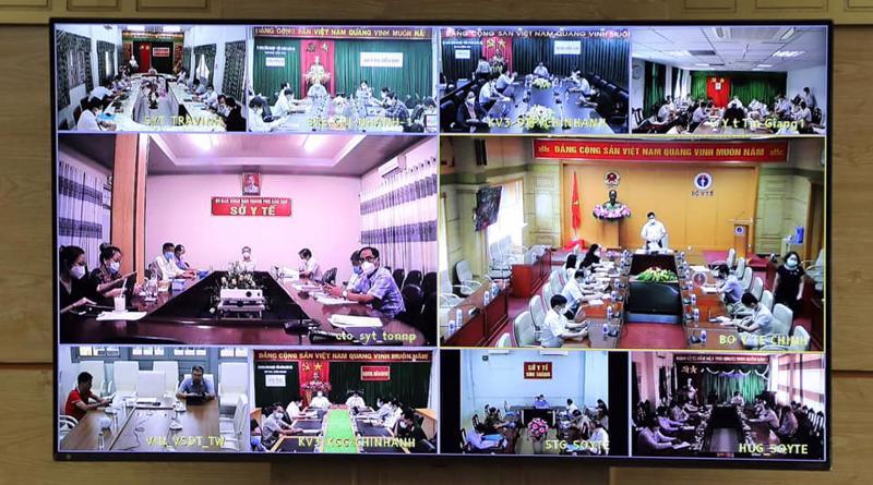 Các điểm cầu tham gia họp trực tuyến.