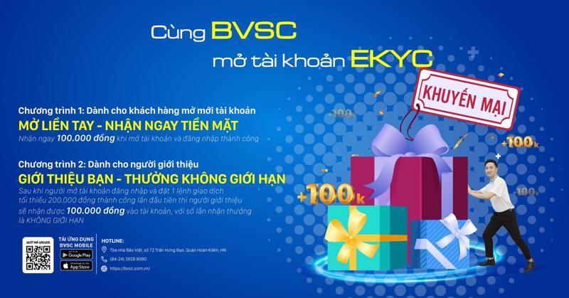 Dịch vụ mở tài khoản eKYC của BVSC ra đời với nhiều tiện ích.