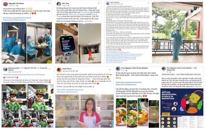 """Chia sẻ về lối sống khỏe mạnh, về câu chuyện truyền cảm hứng hay """"bí kíp"""" giữ tinh thần vui vẻ, lạc quan… là những cách cộng đồng mạng đã tham gia vào chiến dịch suốt 1 tháng qua."""