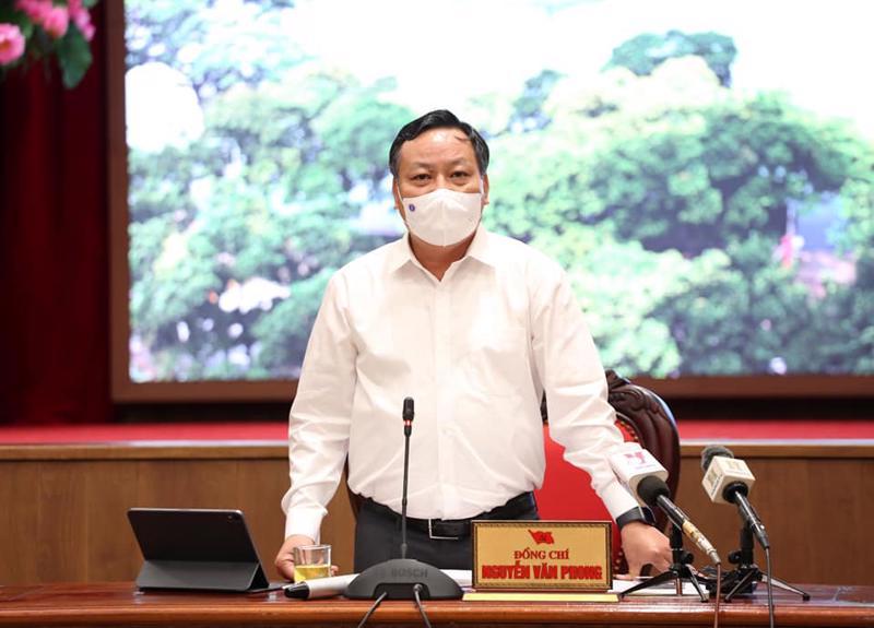Phó Bí thư Thành ủy Hà Nội Nguyễn Văn Phong: Dù đạt được nhiều kết quả quan trọng, nhưng nguy cơ dịch vẫn rất cao