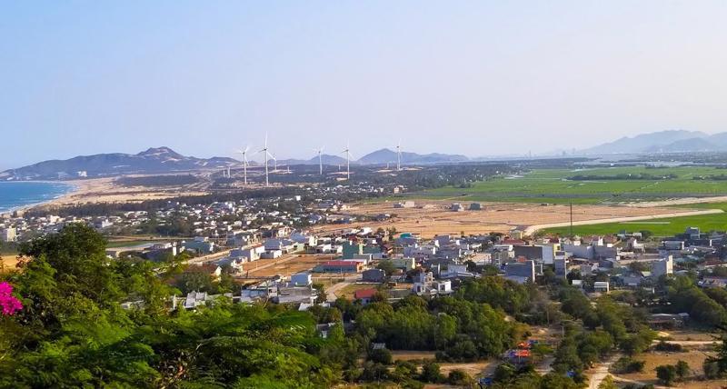 Một góc thị trấn Cát Tiến, huyện Phù Cát, tỉnh Bình Định.