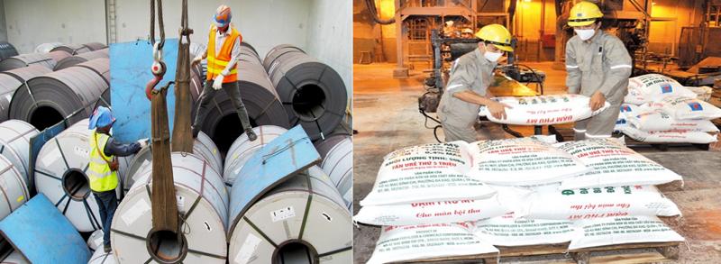 Hạn chế xuất khẩu sắt thép, phân bón ưu tiên cho sản xuất trong nước.