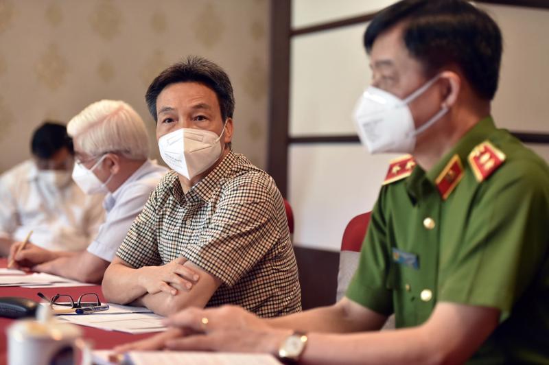 Phó Thủ tướng Vũ Đức Đam làm việc với tỉnh Bình Dương về công tác phòng, chống dịch, ngày 24/8. Ảnh - VGP.